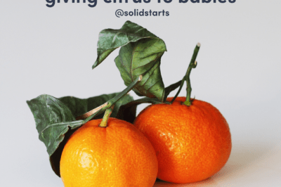 two satsuma mandarins under a heading of What You Must Know Before Giving Citrus to Babies