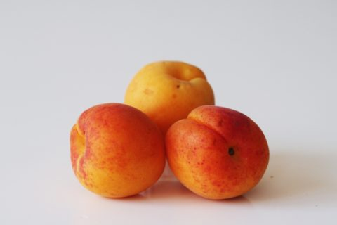 3 apricots before being prepared for babies starting solid food