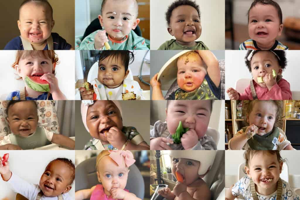 a grid of pictures of babies from around the world.