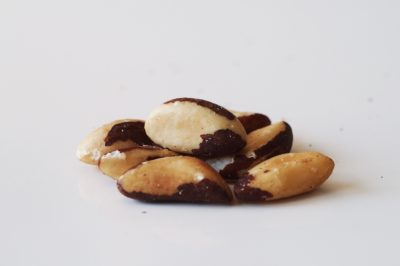 a pile of brazil nuts before being prepared for babies starting solid food