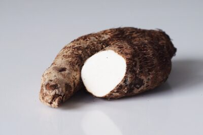 raw cassava before being prepared for babies starting solids