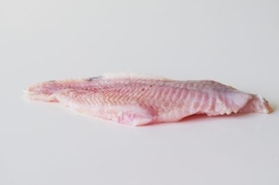 a catfish filet before being prepared for babies starting solids