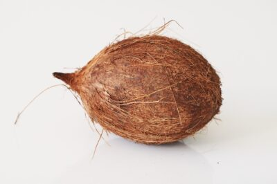 a whole coconut before being prepared for babies starting solids