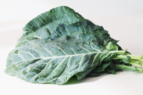 a bunch of collard greens before being prepared for babies starting solids