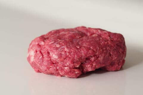 raw ground beef before being prepared for babies starting solids