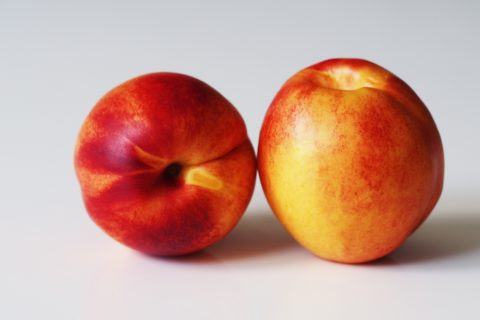 2 nectarines before being prepared for babies starting solids