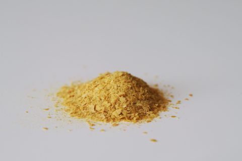 a pile of nutritional yeast before being prepared for babies starting solid food