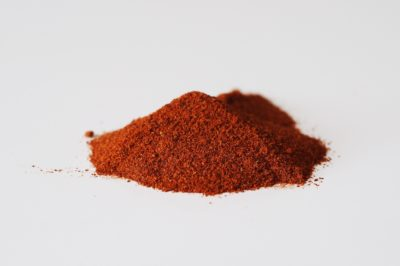 a pile of cayenne pepper before being sprinkled on food for babies starting solids