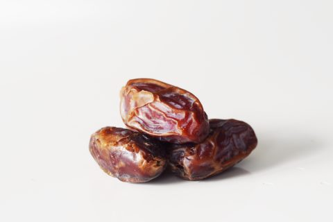 three dates on a table before being prepared for babies starting solid food