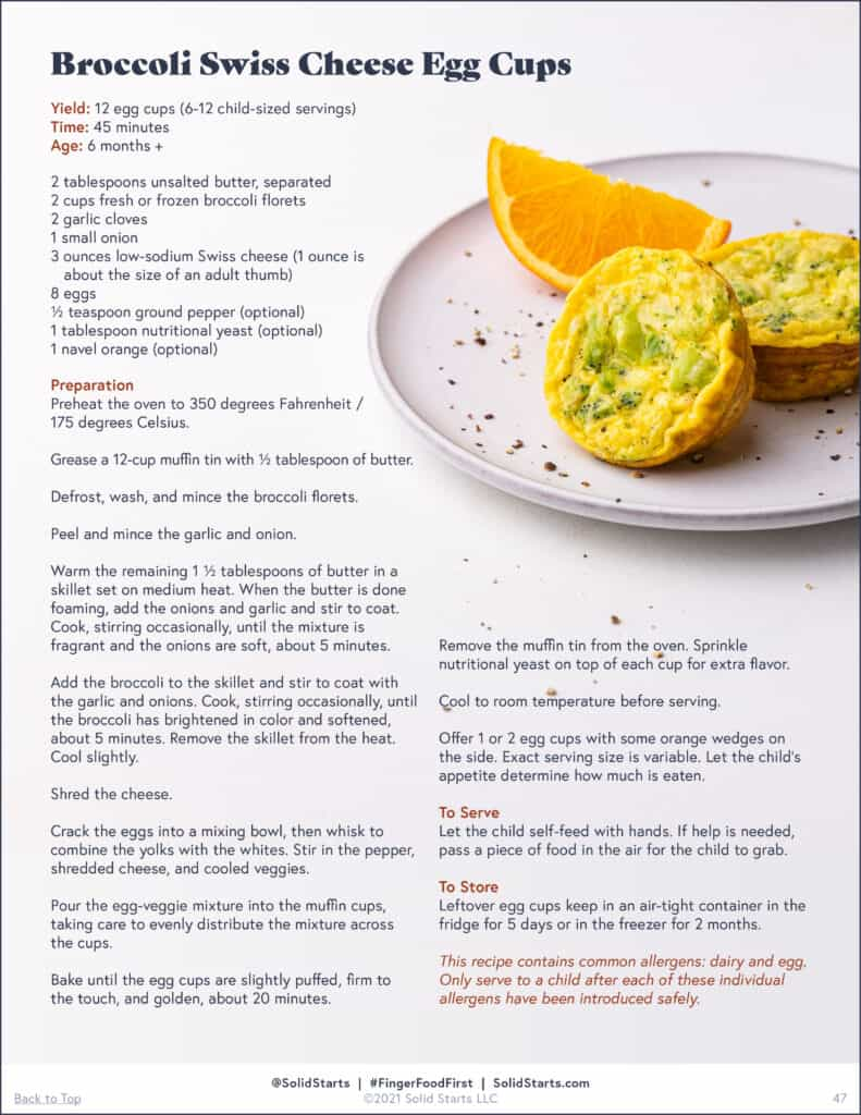 A preview of a recipe for egg cups