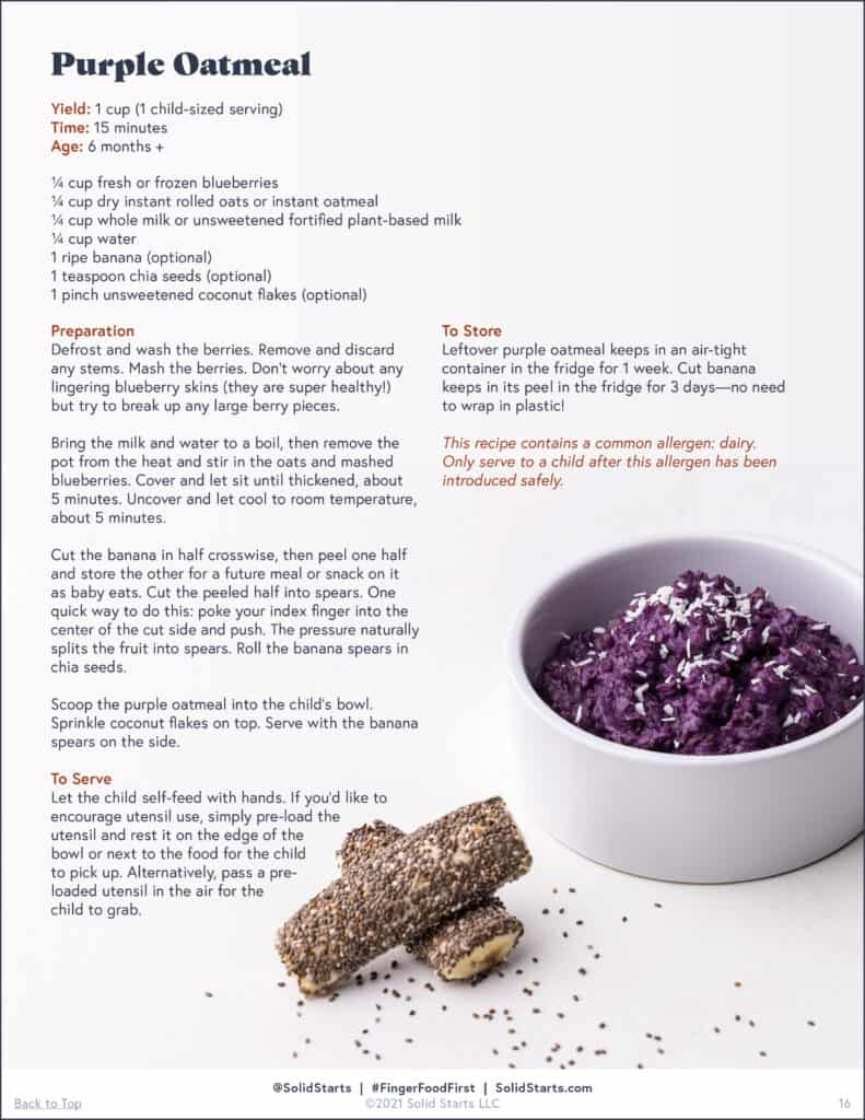 a preview of a recipe for purple oatmeal