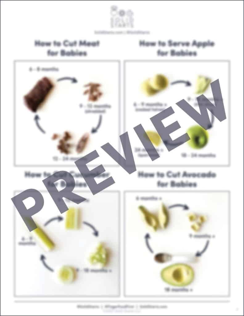 preview image of how to cut foods for daycare or caregivers