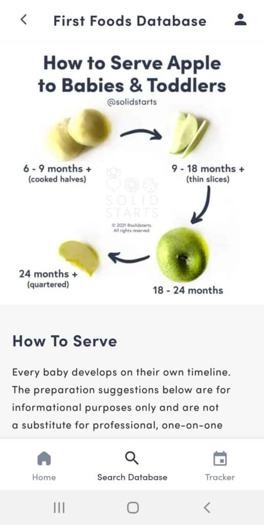 App how to serve a food