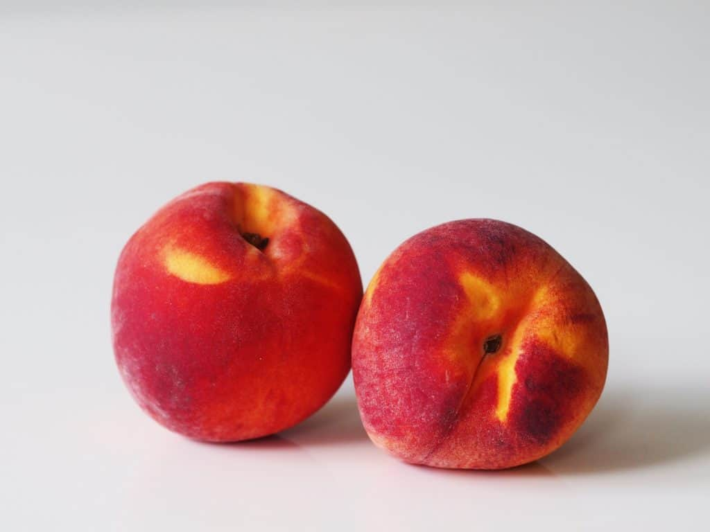 2 peaches before being prepared for babies starting solid food