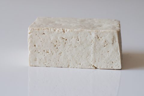 a block of tofu before it is prepared for a baby starting solids