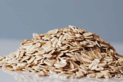 A pile of oats before they have been prepared for a baby starting solid foods